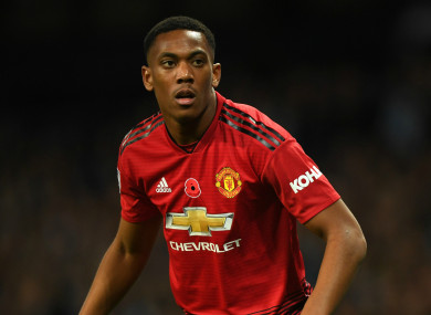 Manchester United forward Anthony Martial.