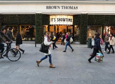 File photo. Brown Thomas store on Grafton Street