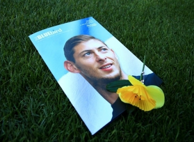 Sala was remembered at yesterday's Cardiff City match.