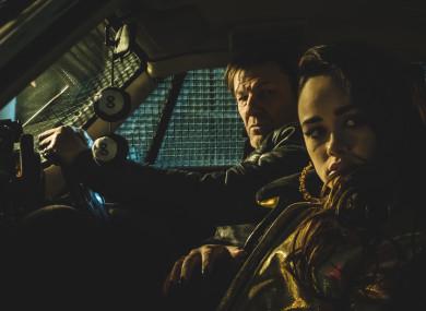 Sean Bean and Rose Williams in Curfew.