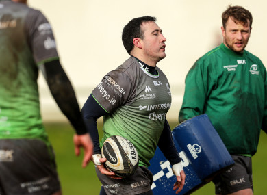 Buckley training with fellow Ireland hopeful Jack Carty this week.