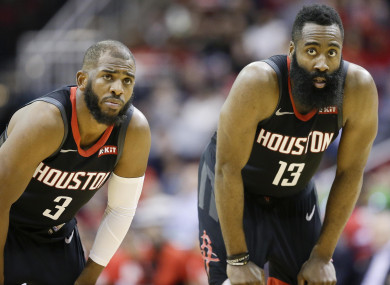 Chris Paul and James Harden.