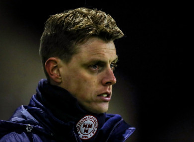 Shelbourne manager Ian Morris got off to a winning start on Friday.