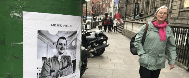 Posters of Jon Jonsson who has been missing since 11am on 9th Feburary 2019