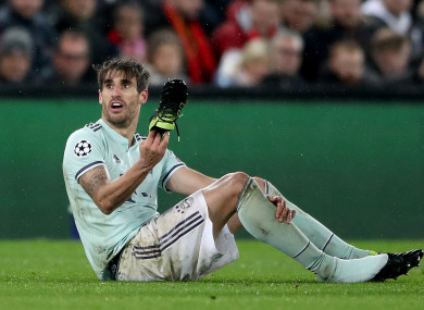 Bayern Munich's Javi Martinez pictured during the Liverpool game.