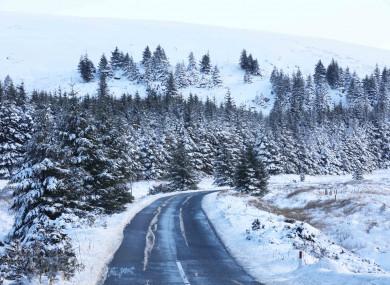 A winter wonderland near the Wicklow Gap in west Wicklow,