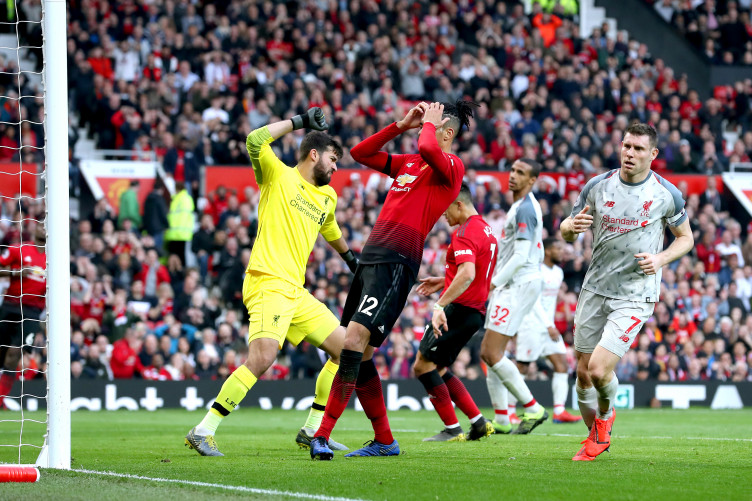 Image result for liverpool v manchester united smalling chance