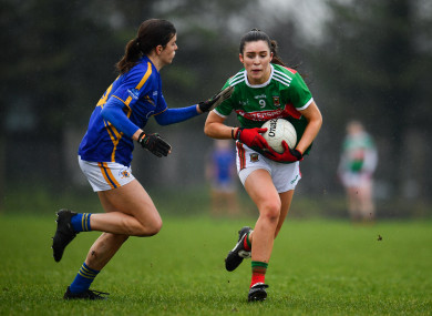 Dayna Finn of Mayo in action against Anna Rose Kennedy of Tipperary.