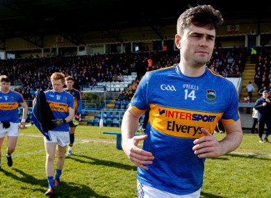 Michael Quinlivan became Tipperary's second ever All-Star winner in 2016.