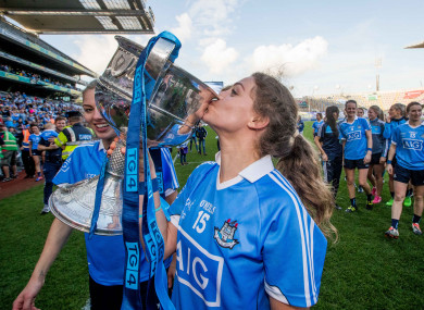 Noelle Healy celebrates Dublin's 2017 All-Ireland final win.