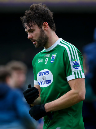A dejected MacNiallais after losing the All-Ireland club semi-final with Gaoth Dobhair at the weekend.