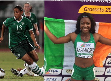 Rianna Jarrett (left) and Gina Akpe-Moses (right) are two of Ireland's top athletes.