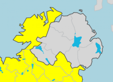 Map Of Ireland 32.Poll Should Met Eireann Weather Warnings Include All Of Ireland S
