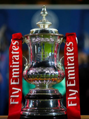 The FA Cup trophy (file pic).