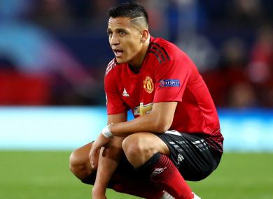 Misfiring: Manchester United forward Alexis Sanchez.