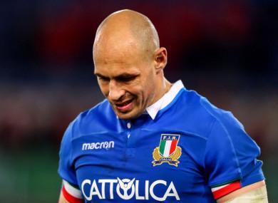 Italy's Sergio Parisse.