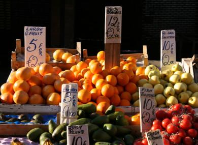 Moore Street market in Dublin.