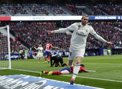 Gareth Bale scores against Atletico Madrid.