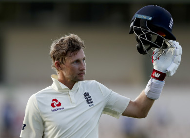 England cricket captain Joe Root.