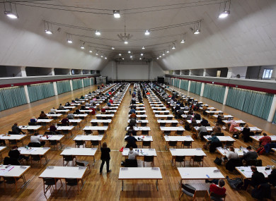 File photo: students taking an exam.
