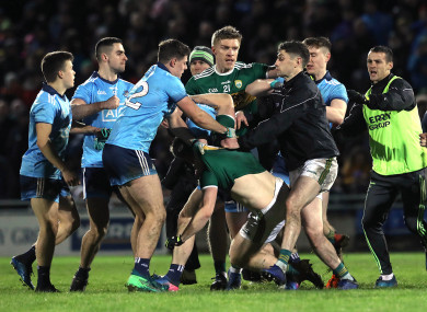 Tempers flared at the final whistle in Tralee last Saturday.