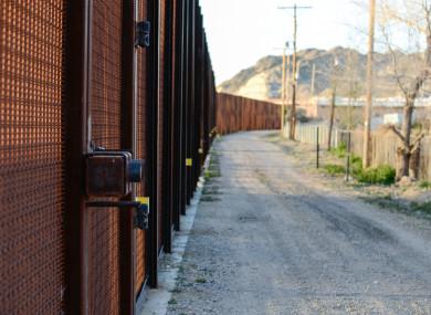 The border fence in El Paso, Texas.