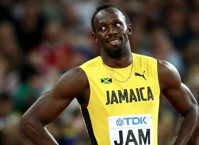Jamaican sprint superstar Usain Bolt.