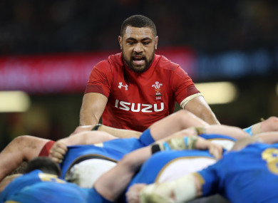 Toby Faletau in action for Wales against Italy during last year's Six Nations.