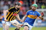 Walter Walsh and James Barry in action in the Allianz Hurling League Division 1A final last April.