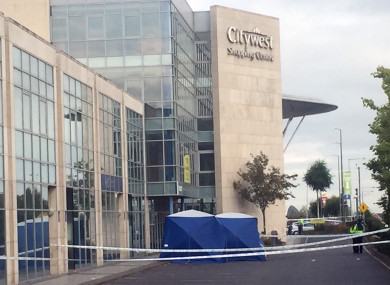 Gardaí at the scene of the shooting of John Gibson in 2017.