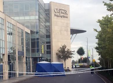 Gardaí at the scene of the shooting in September 2017.