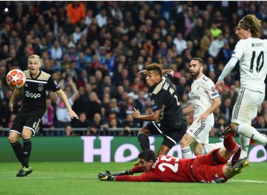 David Neres scores against Real Madrid