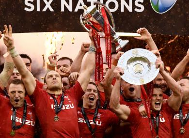 Wales celebrate their Grand Slam triumph