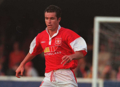 Morrisroe in action for St Patrick's Athletic in 1996.