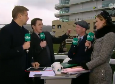 An animated AP McCoy on ITV's racing coverage earlier today.