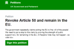 Screengrab of the petition