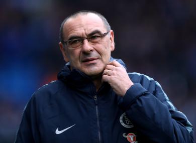 Chelsea boss, Maurizio Sarri.