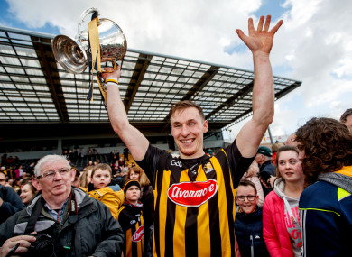 Captain Cillian Buckley celebrates after Kilkenny's league final win last April.