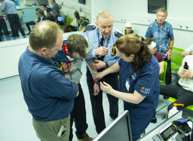 Gardaí train during a Critical Incident Simulation Exercise in a simulated hospital emergency department in UCC