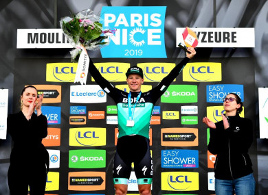 The Bora-Hansgrohe rider secured his third stage win of 2019 on Tuesday.