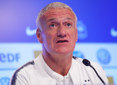 Didier Deschamps (file pic).