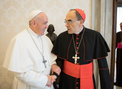 Cardinal Philippe Barbarin Meets Pope Francis Yesterday