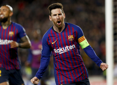Lionel Messi Scores Sensational Hat Trick To Send Barcelona
