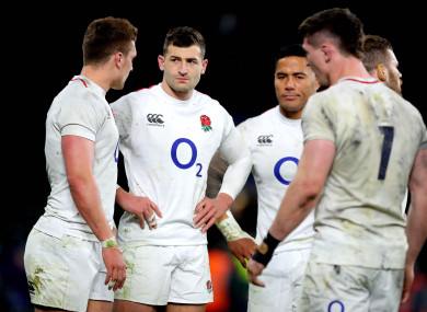 England ended the Six Nations in second place.