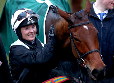 Walsh after winning with Relegate at last year's Cheltenham Festival.
