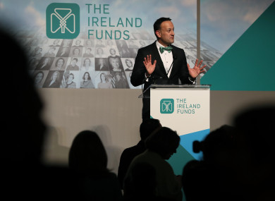 Leo Varadkar at the Ireland Funds dinner in Washington DC.