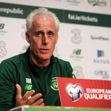 Mick McCarthy talks to the media ahead of  tomorrow night's Euro 2020 qualifier against Georgia.