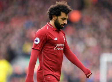 Salah has scored just once in his last eight appearances.