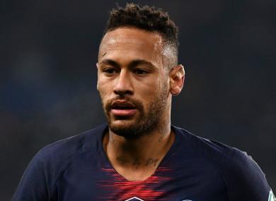 PSG forward Neymar.