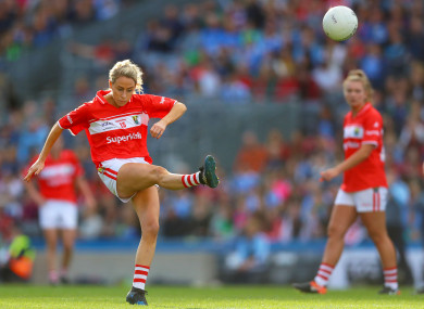 Cork's Orla Finn scored 1-8 for the Rebels this afternoon.